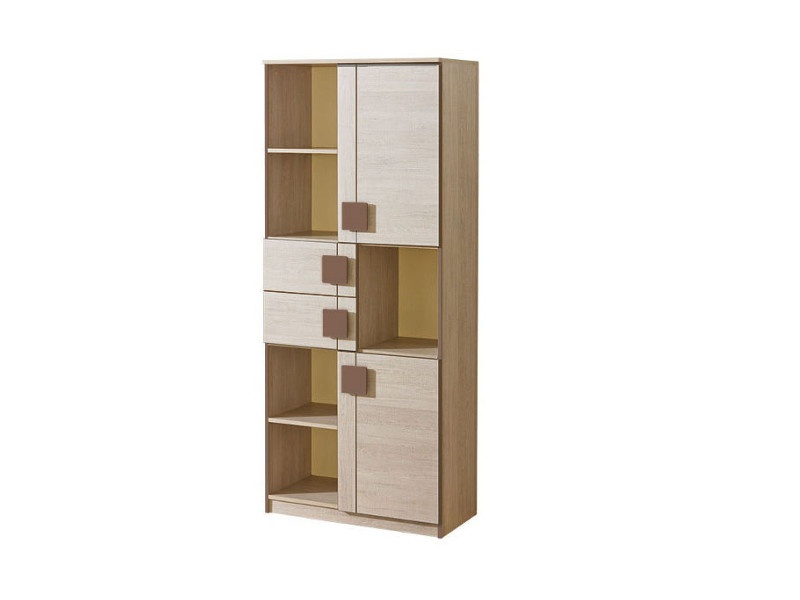 schrank regal mit zwei t ren und 2 schubladen und 5 f cher. Black Bedroom Furniture Sets. Home Design Ideas