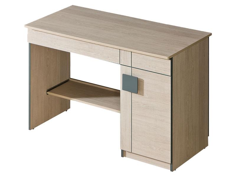 schreibtisch mit einer t r eiche santana grau 134 95. Black Bedroom Furniture Sets. Home Design Ideas