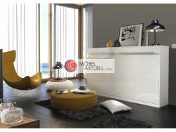 schrankbett smartbett 120cm vertikal wei hochglanz 860 95 eu. Black Bedroom Furniture Sets. Home Design Ideas