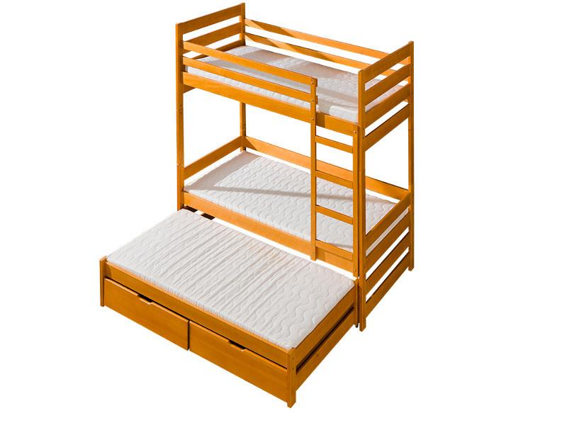 etagenbett kiefer erle gebeizt mit leiter echtholz hochbett f. Black Bedroom Furniture Sets. Home Design Ideas