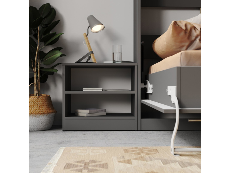 smartbett nachttisch anthrazit grau 37 95. Black Bedroom Furniture Sets. Home Design Ideas