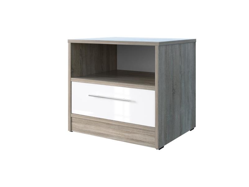 smartbett nachttisch mit einer schublade eiche sonoma. Black Bedroom Furniture Sets. Home Design Ideas