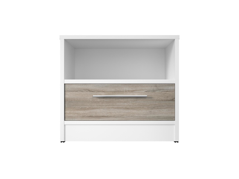 smartbett nachttisch mit einer schublade wei eiche sonoma 91. Black Bedroom Furniture Sets. Home Design Ideas