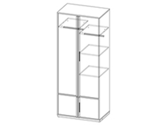 Schrank Kleiderschrank Wohnzimmerschrank E1 Evado 80cm Weiß