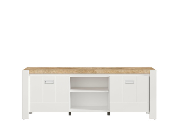TV Cabinet Hi Fi Cabinet White / Oak Westminster ...