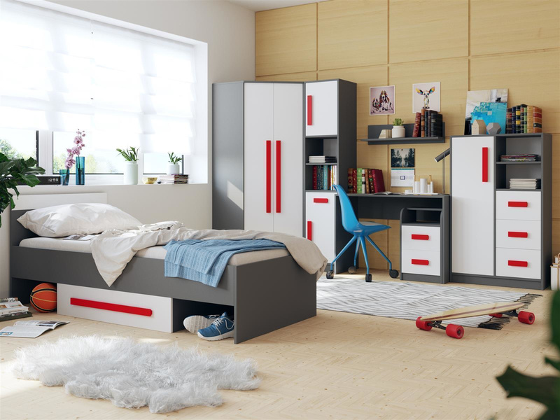 jugendzimmer f r m dchen jungen git 02 7tlg grau we. Black Bedroom Furniture Sets. Home Design Ideas