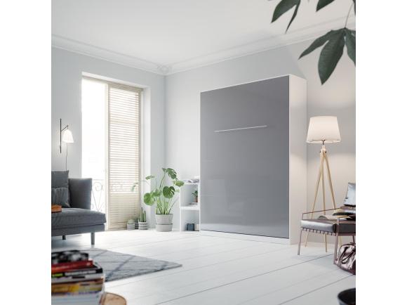 schrankbett vertikal 140x200cm. Black Bedroom Furniture Sets. Home Design Ideas