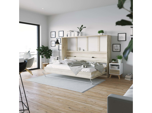 schrankbett liegefl che 140x200 cm horizontal. Black Bedroom Furniture Sets. Home Design Ideas