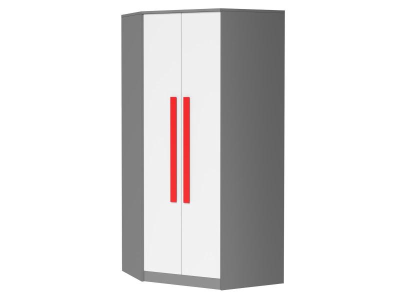 Eckkleiderschrank GIT Grau/Weiss/ Rot, 279,95 €