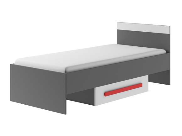Cot / bed GIT-12 with 1 drawer Grey/White/Red, 345,95 €