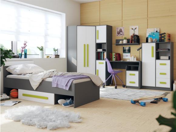 Jugendzimmer für jungs grün  Jugendzimmer für Mädchen & Jungen GIT 02(7tlg) Grau/We