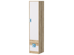 NIKI cupboard wardrobe with 3 shelves and 2 drawers white...