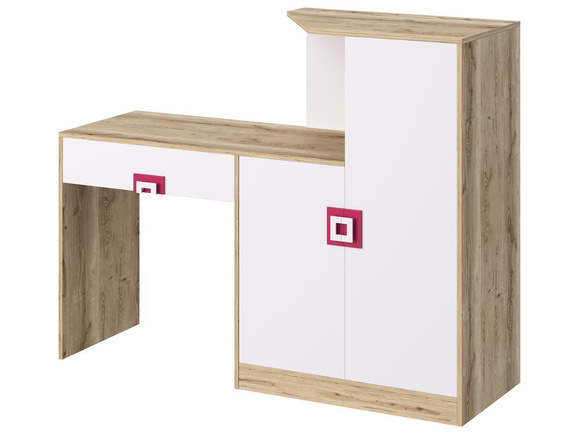 NIKI childrens room youth room 02 (5-piece)White / Oak / Pink