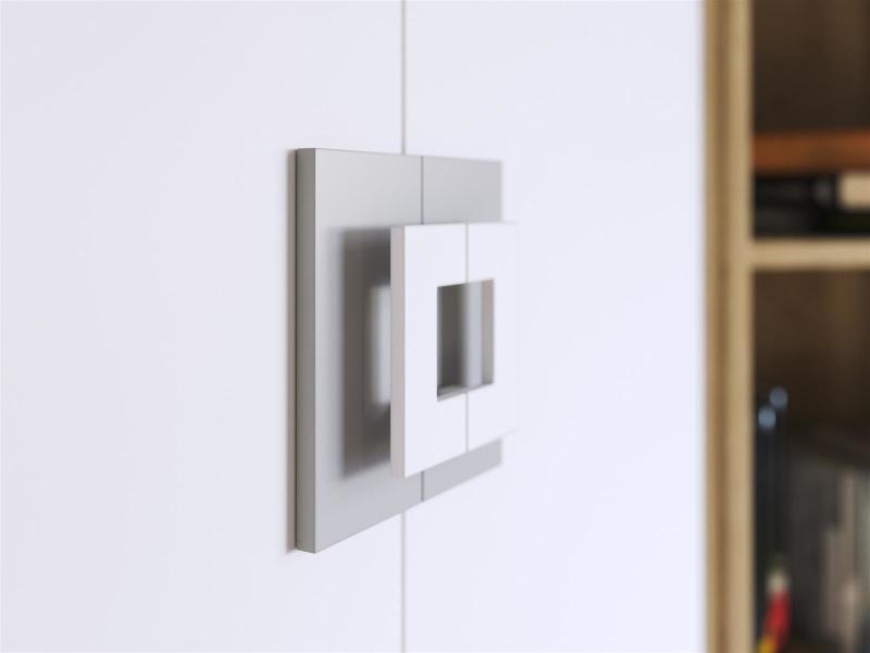 niki regal kleiderschrank mit 2 schubladen wei eiche grau 293. Black Bedroom Furniture Sets. Home Design Ideas