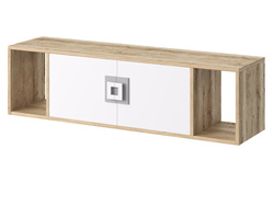NIKI wall shelf hanging shelf with 2 doors white /...