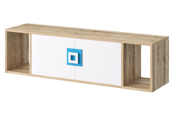 NIKI childrens room youth room 03 (5-piece)White / Oak / Turquoise