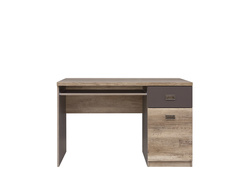 Malkolm Computer desk with keyboard drawer Oak Canyon...