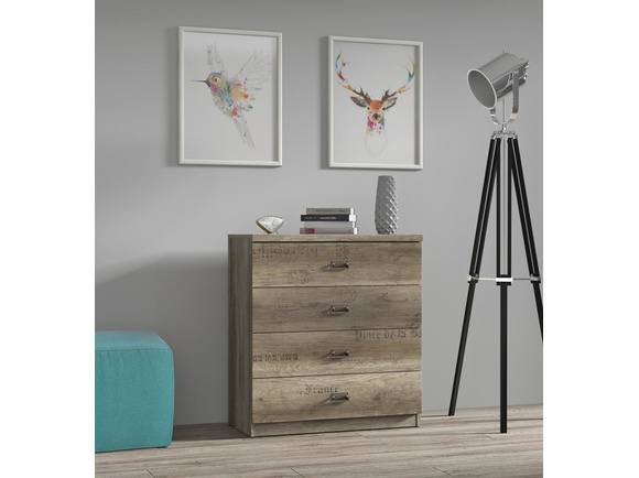 Malkolm Sideboard Dresser 80cm Oak Canyon with writing