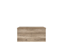 Malkolm chest oak Canyon with writing