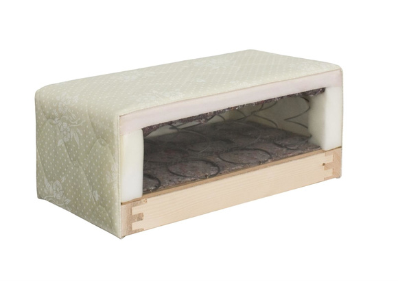 Malkolm bed 90cm incl.mattress in oak canyon color with writing