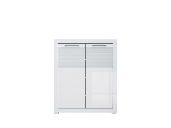 Dresser  with 2 doors FLAMES  White/White high gloss