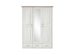 Lukka wardrobe 3-door with 1 mirror in Larch light / dark...