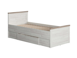 Lukka bed single bed 90cm, larch light / oak dark