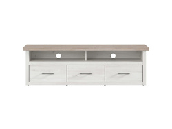LUKKA TV Media Lowboard cabinet with 3 drawers in larch...