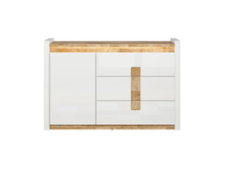 Alamena chest of drawers sideboard in white / oak...