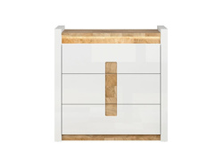 Alamena chest of drawers in white / oak Westminster /...