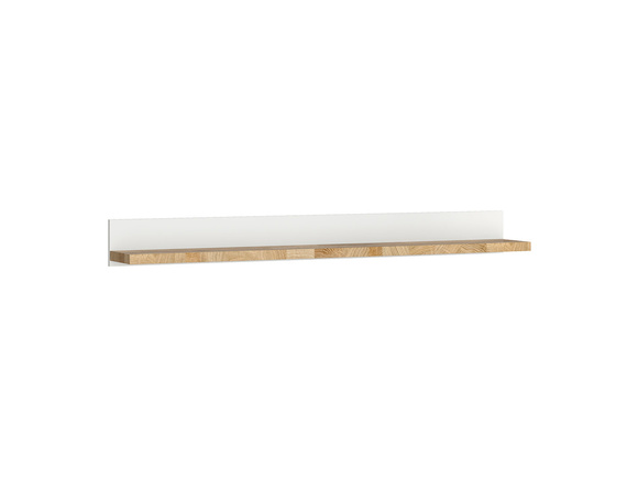Alamena wall shelf hanging shelf in white/ oak Westminster imitation