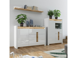 Alamena 03 Wardrobe set 3-tlg. in white / oak Westminster...
