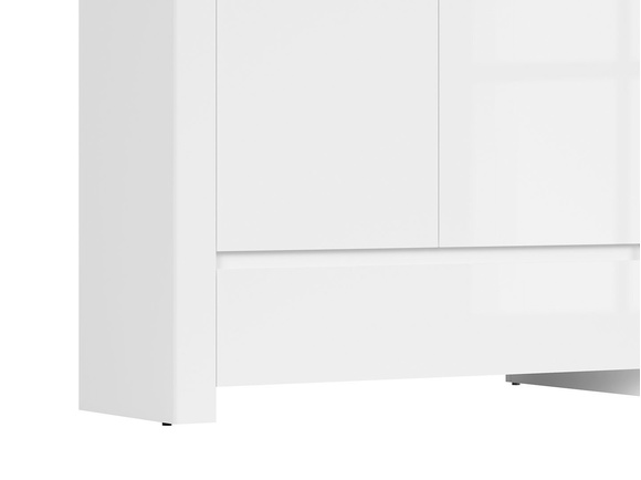 HOLSTEN wardrobe 2 doors in white / oak / white gloss