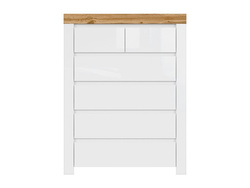 HOLSTEN chest of drawers with 6 drawers and in white /...