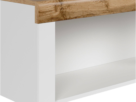 HOLSTEN wall shelf wall unit 156cm in white / oak