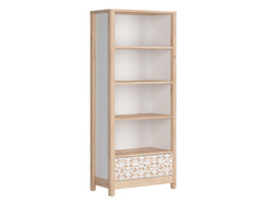 TIMOH high cabinet shelf with 4 compartments, a drawer in...