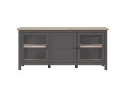 BOCAGE showcase chest of drawers 3 doors in graphite /...