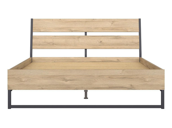 GAMMA LOFT bed double bed 160x200cm in oak decor