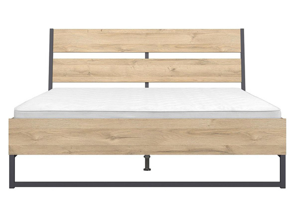 GAMMA LOFT bed double bed 160x200cm in oak decor - incl.slats