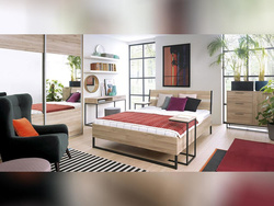 GAMMA LOFT bedroom 5 pcs. with 160x200cm double bed in...