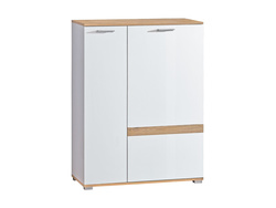 RIVA wardrobe in white / oak