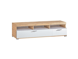 RIVA RTV TV cabinet Lowboard in white / oak