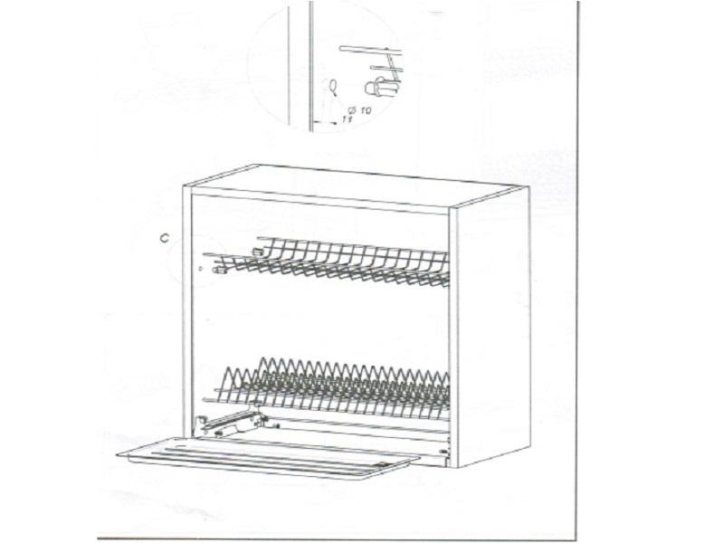 abtropfgestell zum k chenschrank variant 90 cm 22 95. Black Bedroom Furniture Sets. Home Design Ideas
